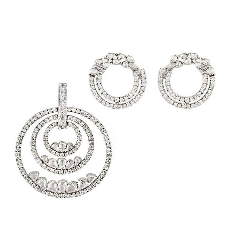 Diamond Circle of Life Earring and Pendant Suite