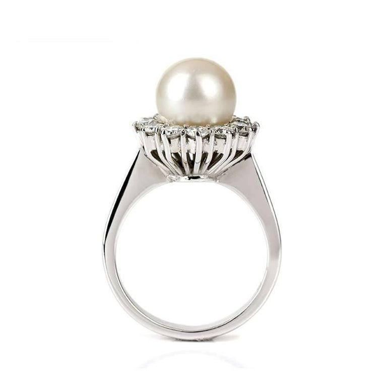 Pearl and Diamond Cluster Ring 3