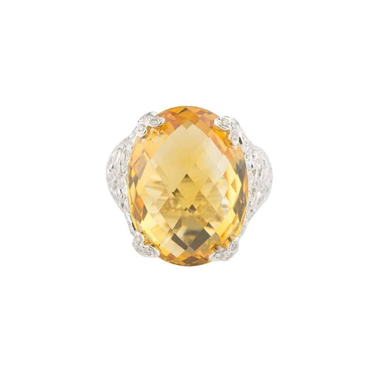 Citrine and Diamond Ring 2