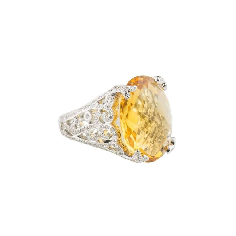 Citrine and Diamond Ring 3