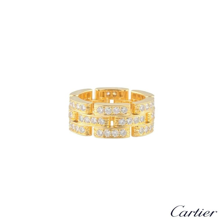 Cartier Maillon Panthere Yellow Gold Diamond Ring 2