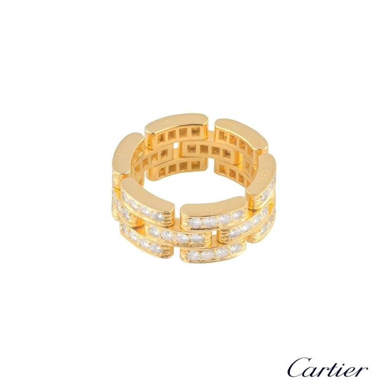 Cartier Maillon Panthere Yellow Gold Diamond Ring 3