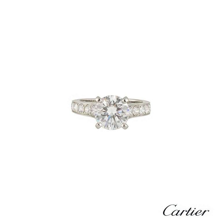 Cartier 1895 Diamond Platinum Engagement Ring 2