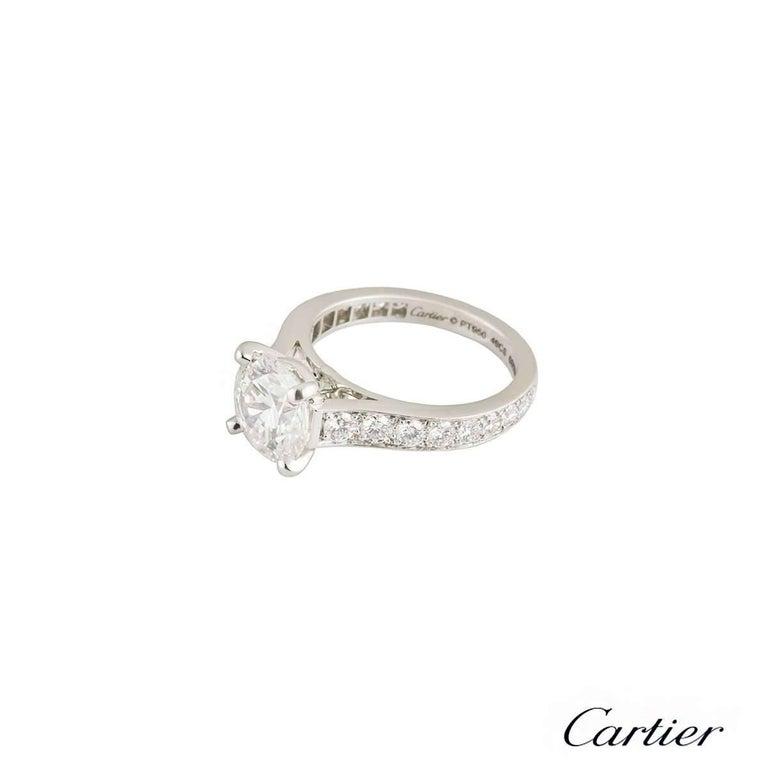 Cartier 1895 Diamond Platinum Engagement Ring 3