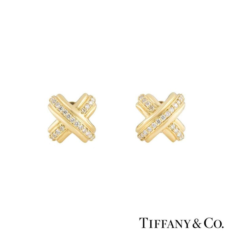 Tiffany & Co. Schlumberger Yellow Gold Diamond Cufflinks 2