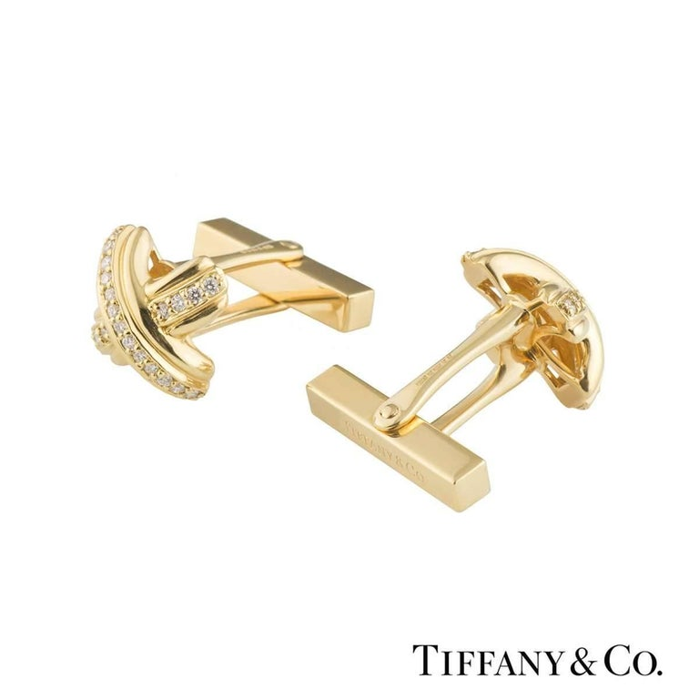 Tiffany & Co. Schlumberger Yellow Gold Diamond Cufflinks 3