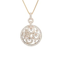 Striking Rose Gold Diamond Pendant
