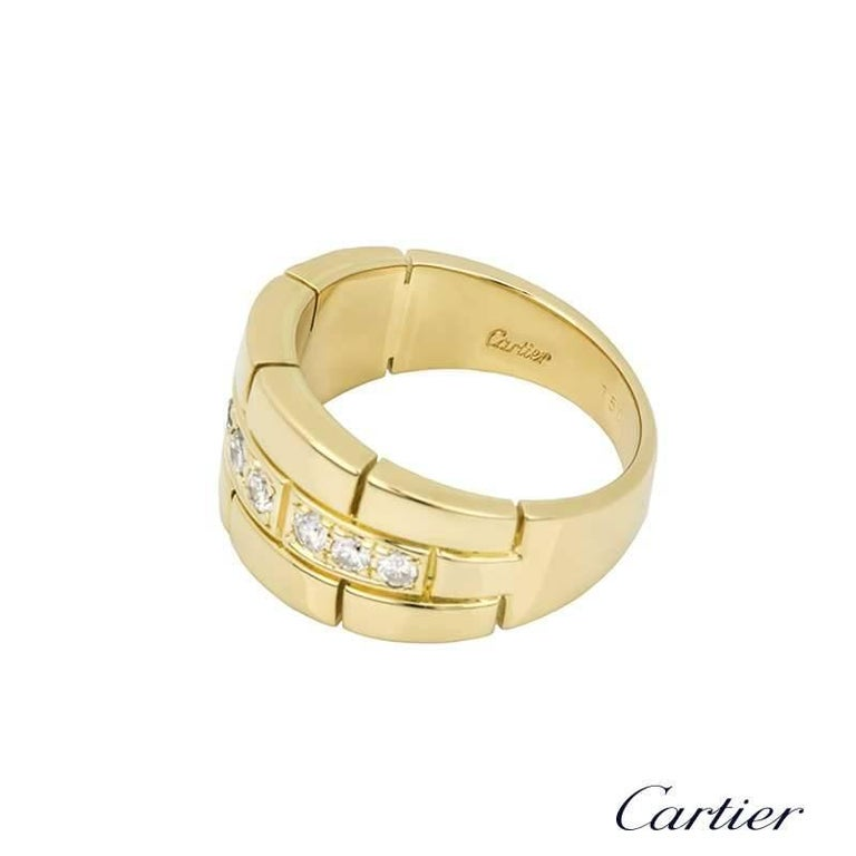 Cartier Yellow Gold and Diamond Dress Ring In Excellent Condition For Sale In London, GB