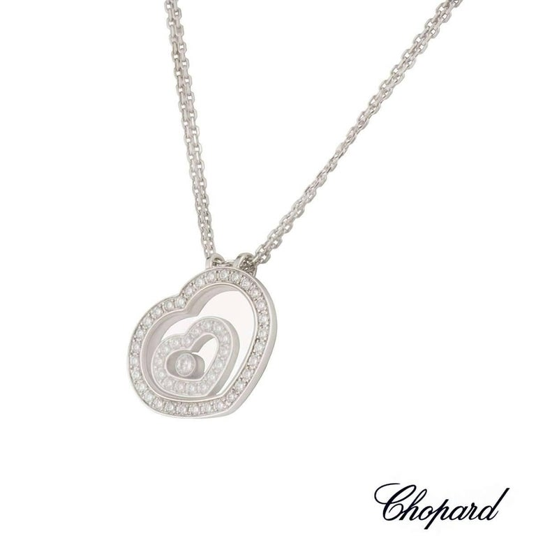 Chopard Happy Spirit Diamond Pendant In Excellent Condition For Sale In London, GB