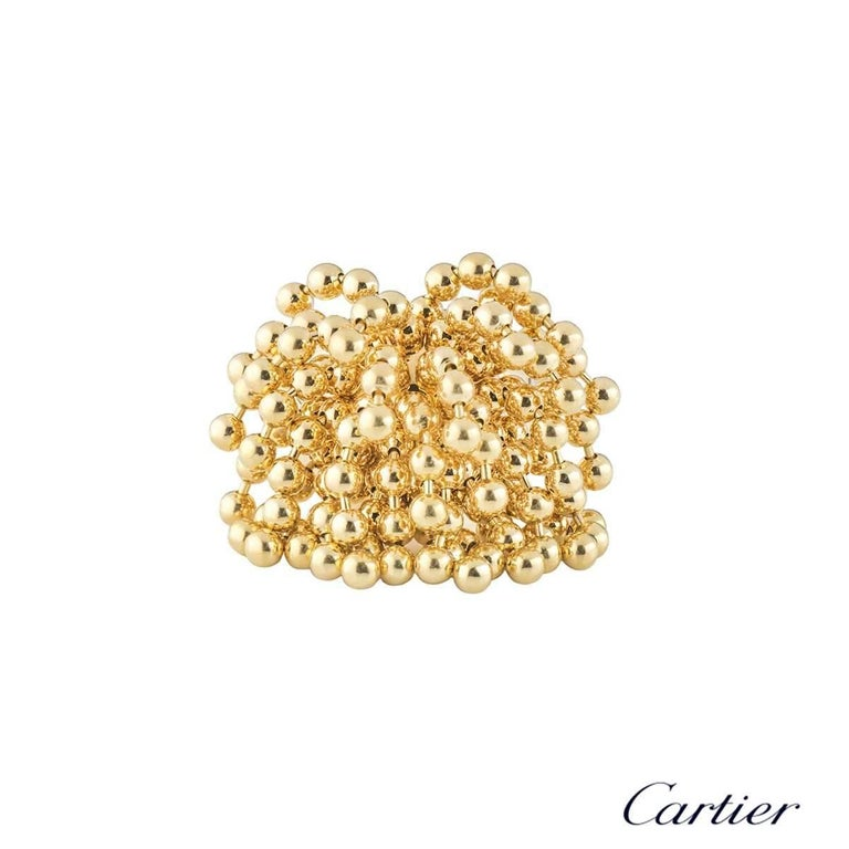 Cartier Yellow Gold Paris Nouvelle Vague Ring In Excellent Condition For Sale In London, GB