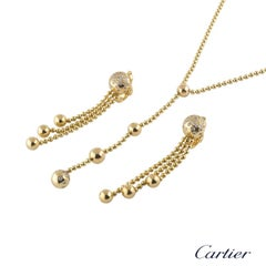 Cartier Yellow Gold Diamond Draperie Jewelry Suite