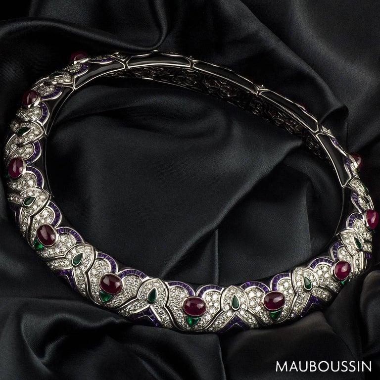 Mauboussin Diamond and Multi-Gemstone Necklace For Sale 1