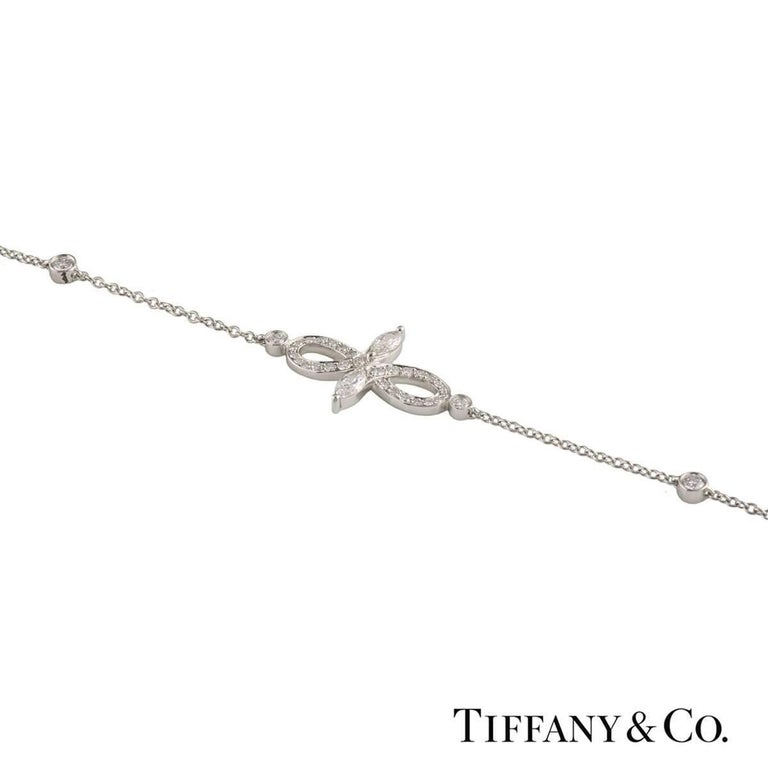 Tiffany & Co. Diamond Victoria Bracelet In Excellent Condition For Sale In London, GB