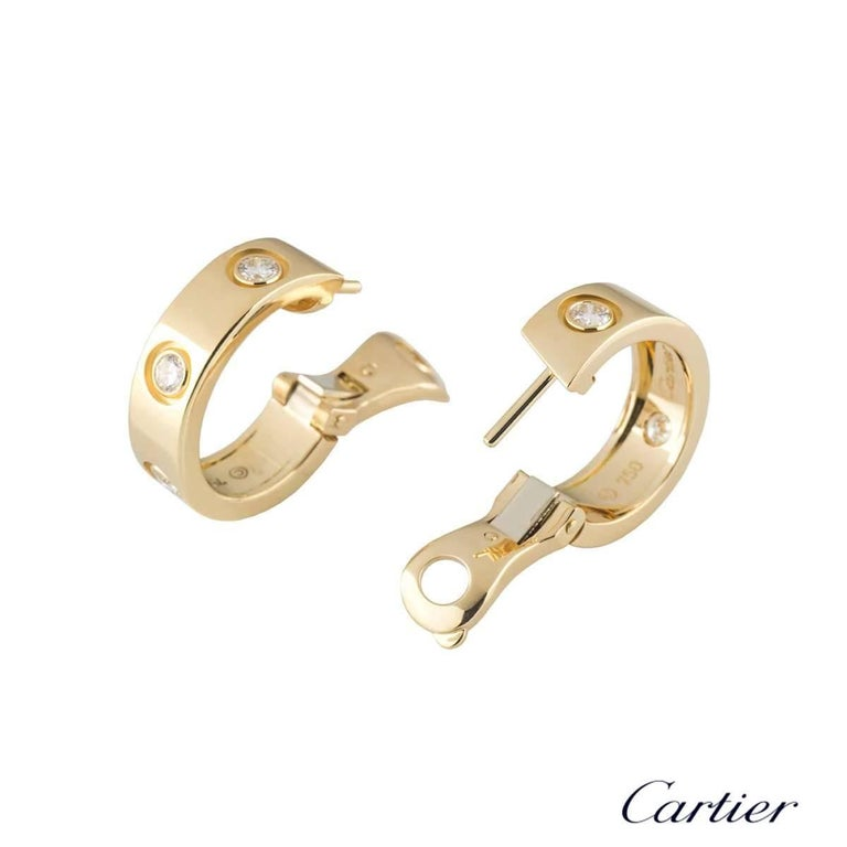 Cartier Diamond Love Hoop Earrings In Excellent Condition For Sale In London, GB