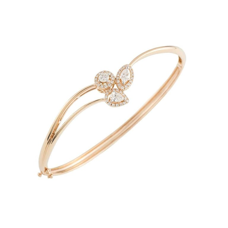 Rose Gold Diamond Bangle 2.07ct