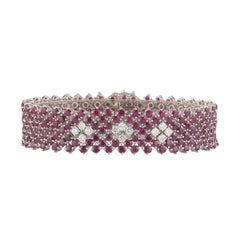 Ruby and Diamond Bracelet 16.87 carats
