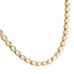 Madhuri Parson Oval Rock Crystal Strand Necklace