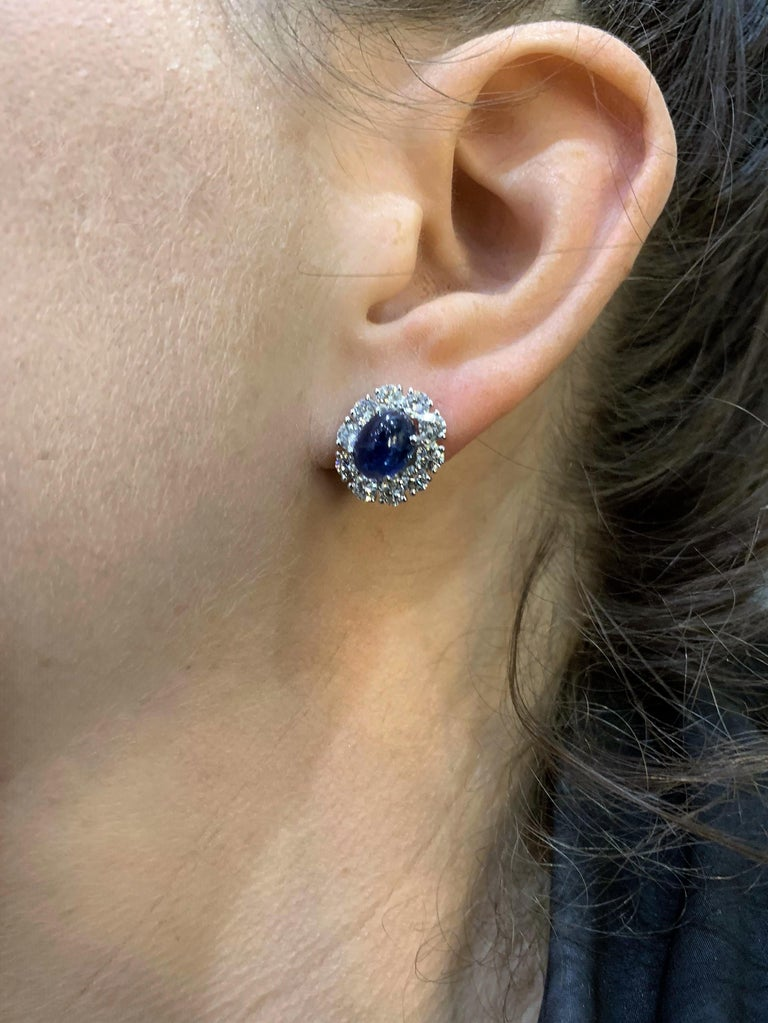 Women's Graff Diamond and Sapphire Earrings For Sale