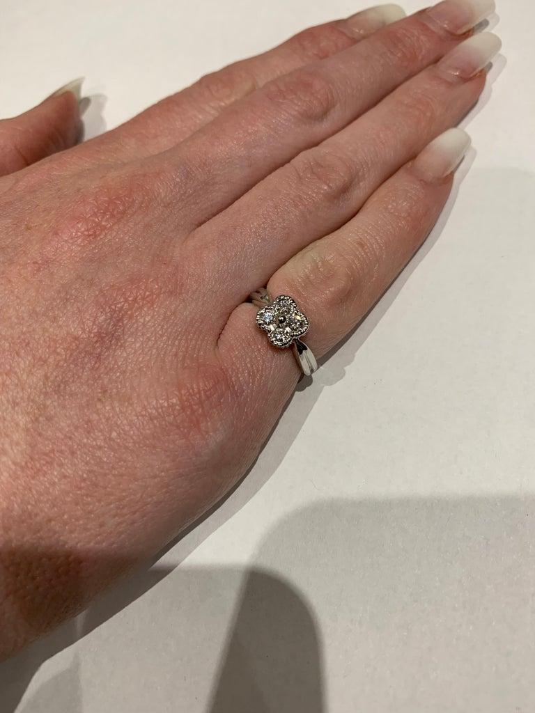 Women's Van Cleef & Arpels Diamond Alhambra Ring For Sale