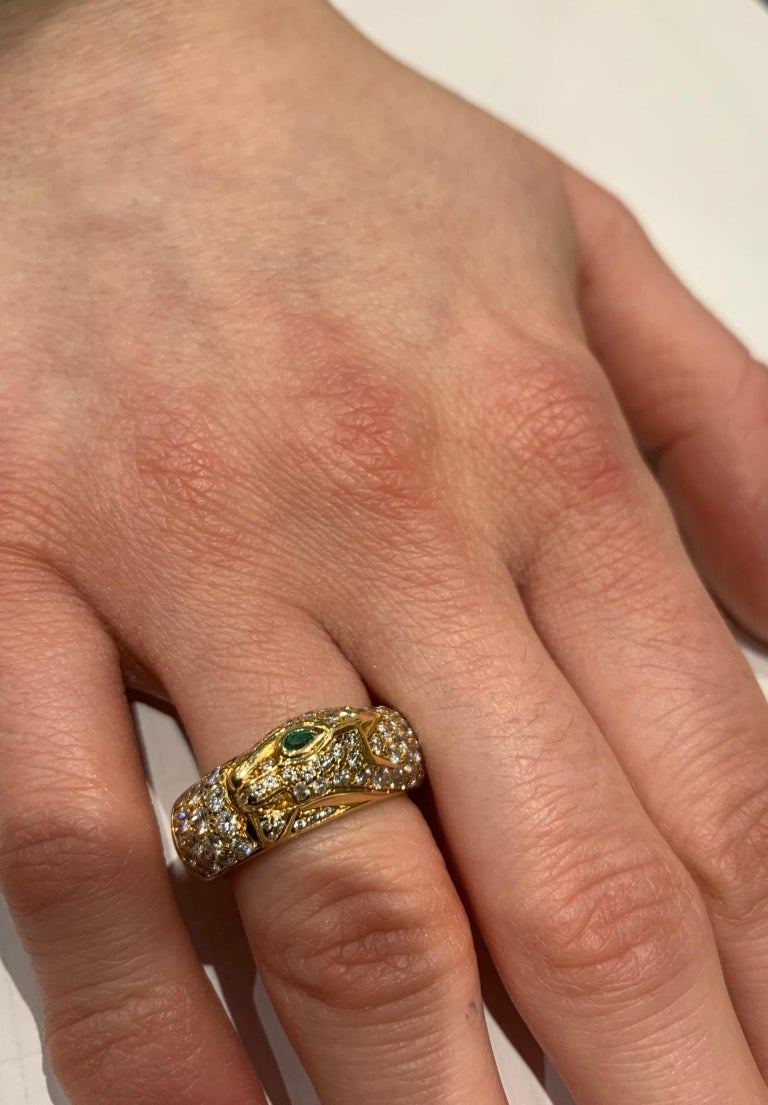 Cartier Panthere de Cartier Diamond Ring In Excellent Condition In London, GB
