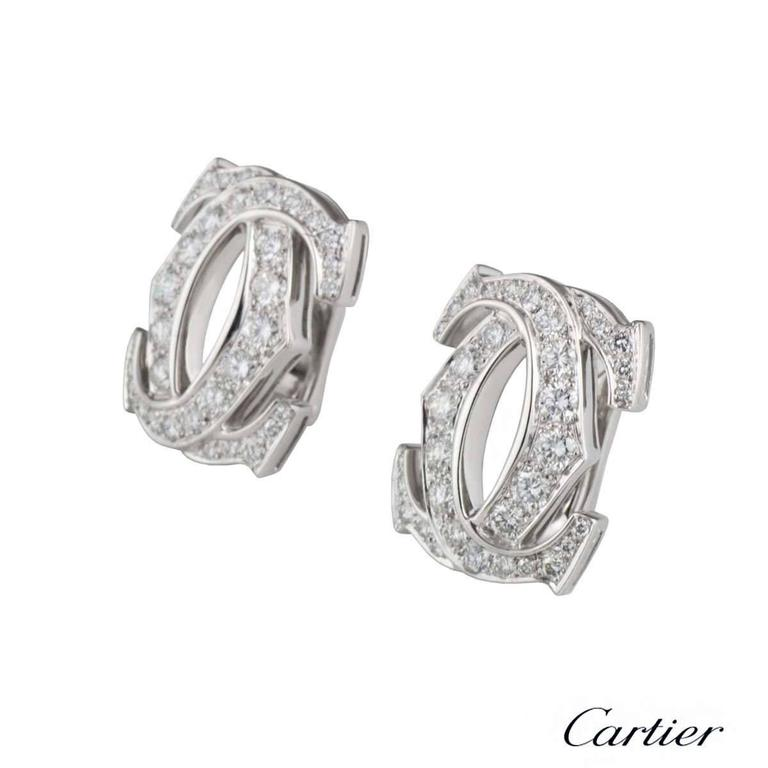 Cartier C de Cartier Diamond Earrings 3