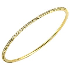 Tiffany & Co. Metro 18 Karat Yellow Gold and Diamond Bangle 1.59 Carat
