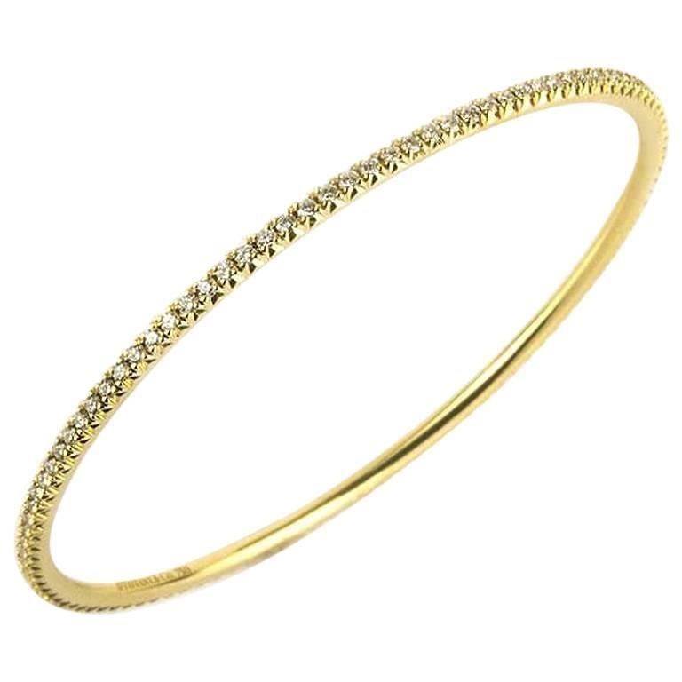 Tiffany & Co. Metro 18 Karat Yellow Gold and Diamond Bangle 1.59 Carat