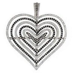 Theo Fennell Diamond Heart Pendant 2.62 Carat