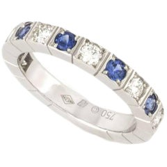 Cartier Lanieres Diamond and Sapphire Ring