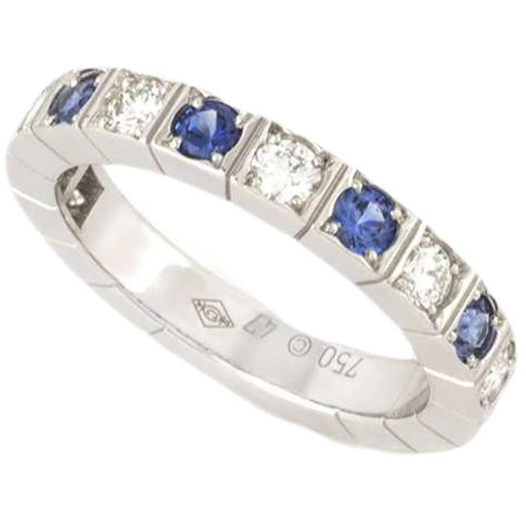 Cartier Lanieres Diamond and Sapphire Ring