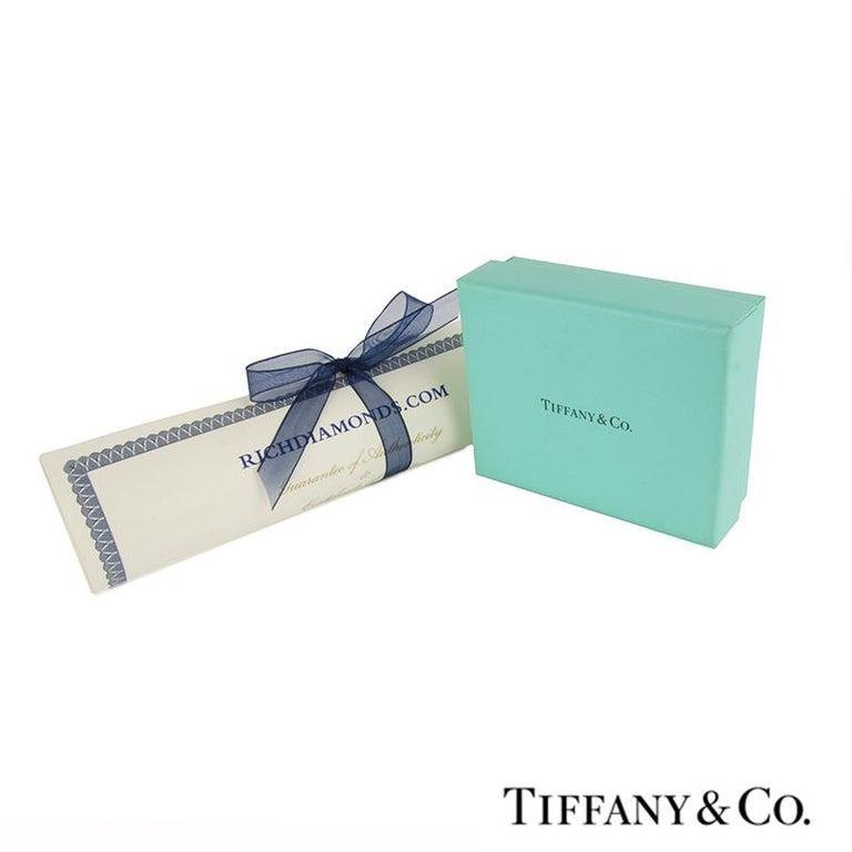 Women's Tiffany & Co. Platinum Diamond Hoop Earrings For Sale