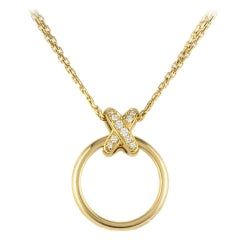 Chaumet Liens Diamond and Gold Pendant
