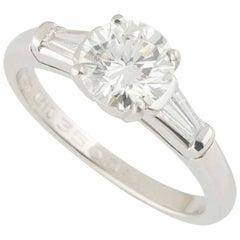 GIA Certified Tiffany & Co. Diamond Three-Stone Engagement Ring 1.17 Carat
