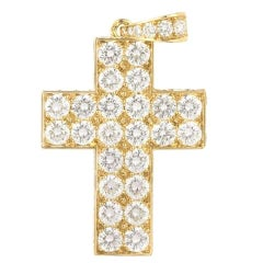 Cartier Diamond Cross Decor Pendant 6.50 Carat