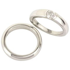 Asprey Diamond Engagement Ring and Matching Band