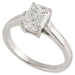 Tiffany & Co. 1.56 Carat GIA Certified Emerald Cut Diamond Platinum Ring