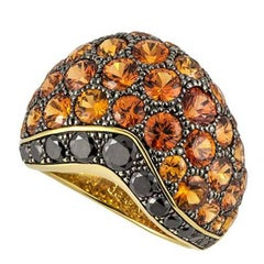 De Grisogono Diamond and Orange Sapphire Ring