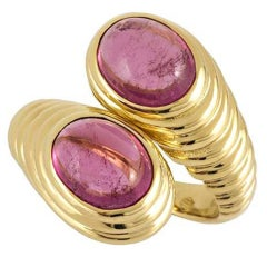 Bulgari Yellow Gold Amethyst Ring
