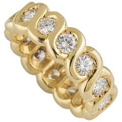 Van Cleef & Arpels Yellow Gold Diamond Eternity Band Ring