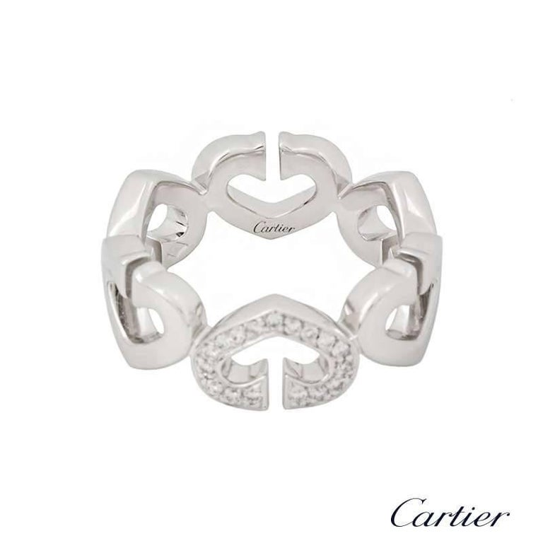 ae8b6b57c7497 Cartier Hearts and Symbols Diamond Set White Gold Ring