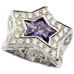 Rock Star Diamond Amethyst Ring
