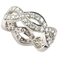 Diamond Infinity Band Ring 2.06 Carat
