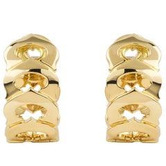 Cartier C de Cartier Yellow Gold Earrings
