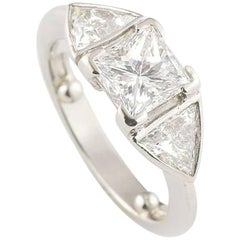 Certified Princess Cut Diamond Engagement Ring 1.07 Carat