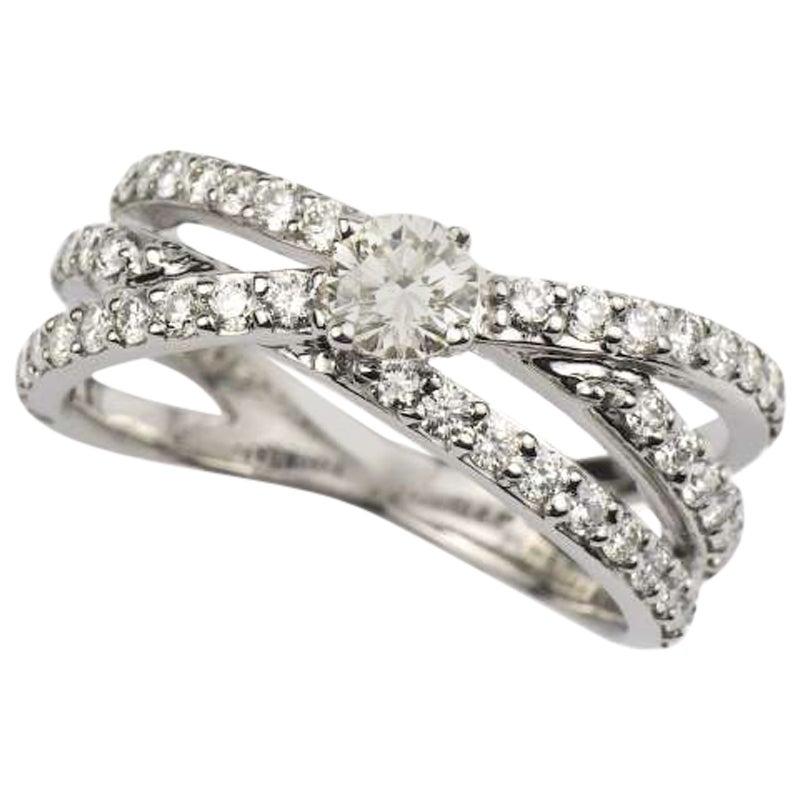 Diamond Cluster Engagement Ring 1.07 Carat