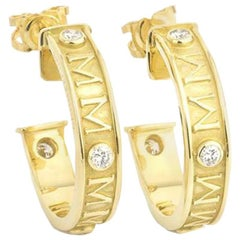 Theo Fennell Fennellium Diamond and Gold Hoop Earrings