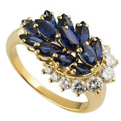 Piaget Sapphire Diamond Gold Dress Ring