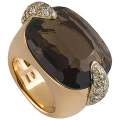 Pomellato Rose Gold Diamond and Quartz Ring