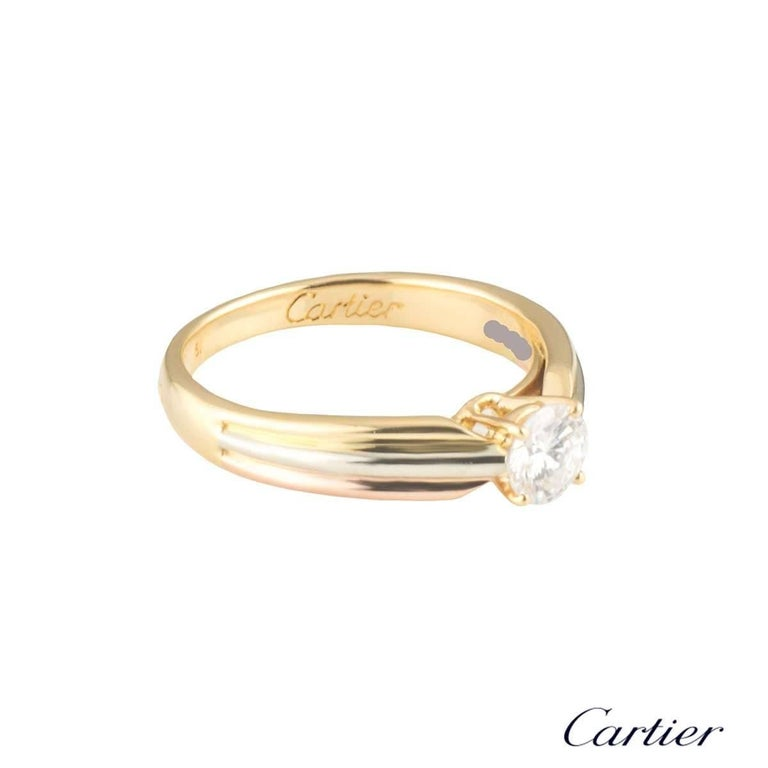 Round Cut Cartier Trinity de Cartier Diamond Engagement Ring For Sale