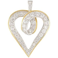 Kutchinsky Diamond Heart Pendant 1.47 Carat